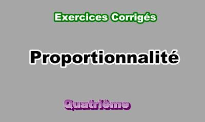 Exercices Corrigés de Proportionnalité 4eme en PDF