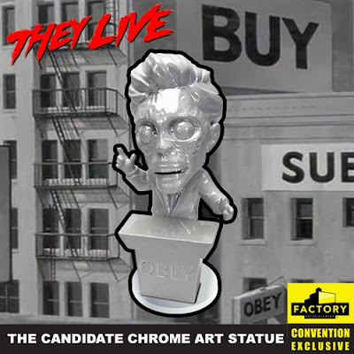 San Diego Comic-Con 2020 Exclusive They Live Candidate Chrome Art Statue by Factory Entertainment