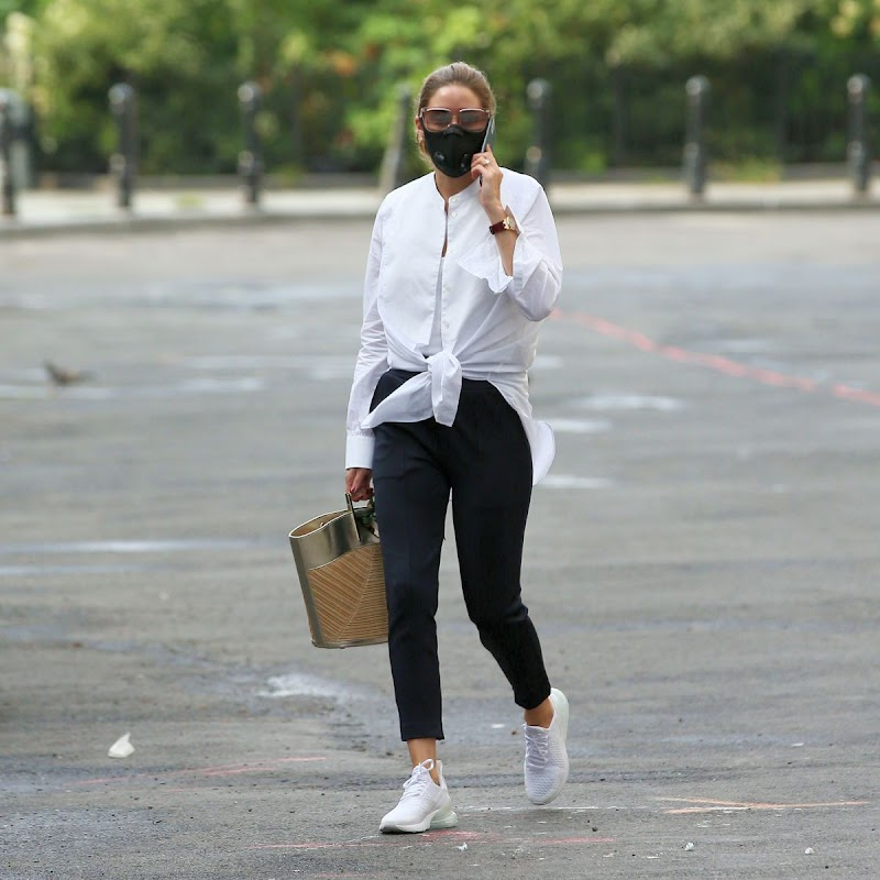 Olivia Palermo Clicked outside in New York 12 Aug -2020