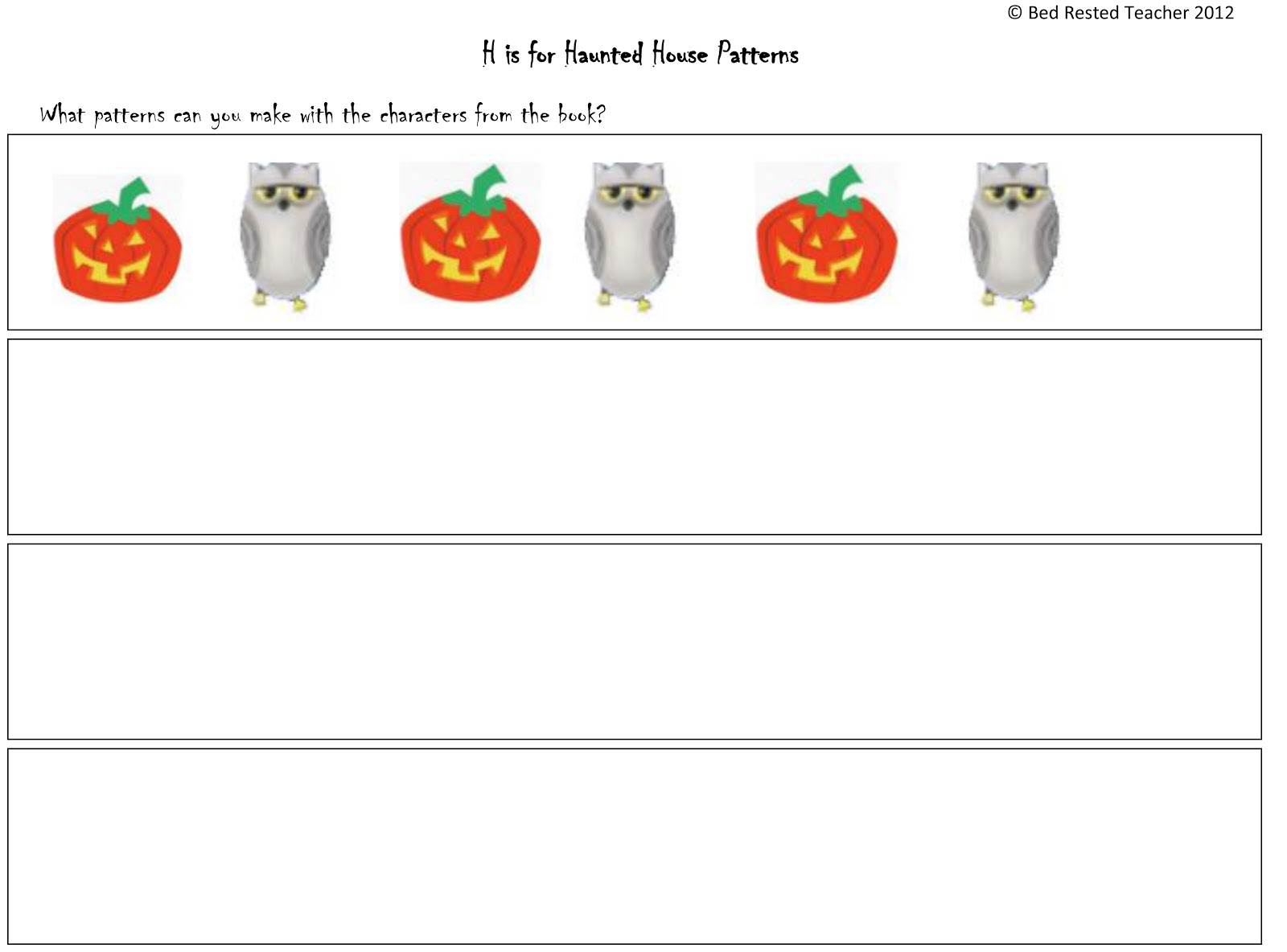 H Is For Haunted House Activities
