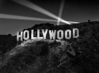 Hollywood Sign Black and White