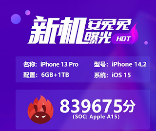 Skor AnTuTU]u iPhone 13 Pro