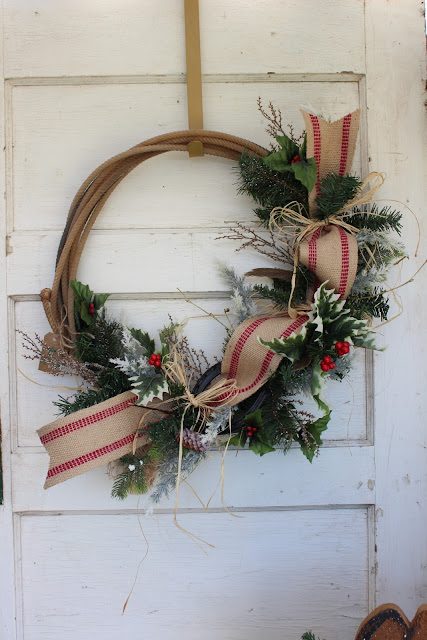 lasso Christmas wreath