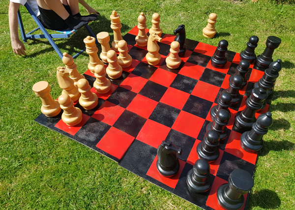 How  I made an outdoor chessboard