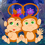 Games4King Pair Monkey Rescue Walkthrough