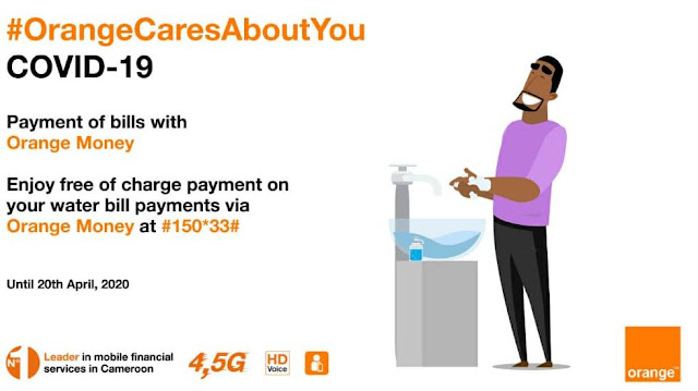 Free payment of Water Bills on Orange Money Cameroon
