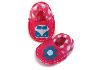 http://www.mojosfreespirit.com/collections/handmade-slippers/products/retro-hippie-bus-baby-booties-in-pink