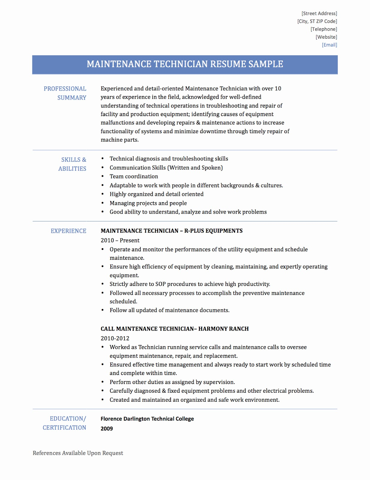 maintenance tech resume maintenance tech resume sample 2019 maintenance tech resume objective 2020, maintenance tech resume example maintenance technician resume template apartment maintenance tech resume industrial