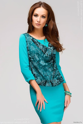 Vestidos Cortos Azul Turquesa