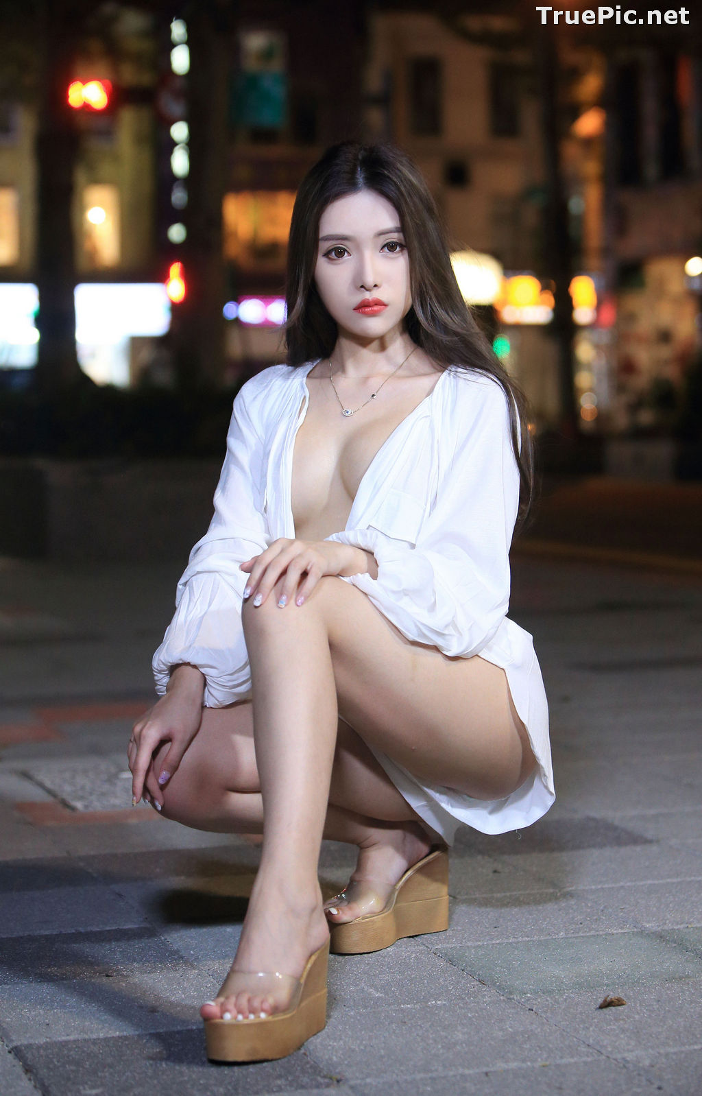 Image Taiwanese Model – 莊舒潔 (ViVi) – Sexy and Pure Baby In Night - TruePic.net - Picture-23