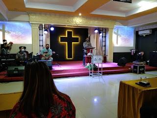 Binmas Polres Landak Imbau Jemaat Gereja GKTI Batu Penjuru Ngabang