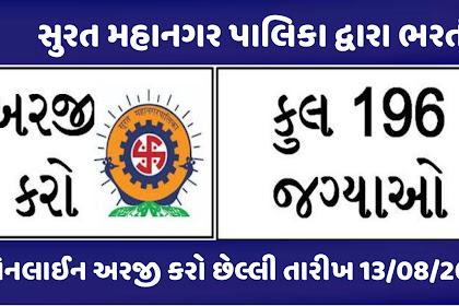 Surat Municipal Corporation (SMC) Recruitment For 196 Posts Apply Now