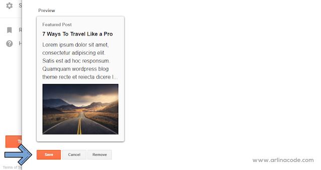 Modifikasi Widget Featured Post Bawaan Blogger