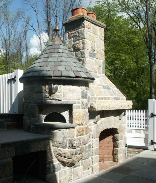 Stone Fireplace Next To The Outdoor Kitchen And A Lovely: Our French Inspired Home: Our French Inspired Fireplace Mantel