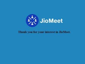 Reliance Jio to bring Zoom-alternative JioMeet video app soon