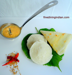 fine dining indian picture of Idli dosa recipe