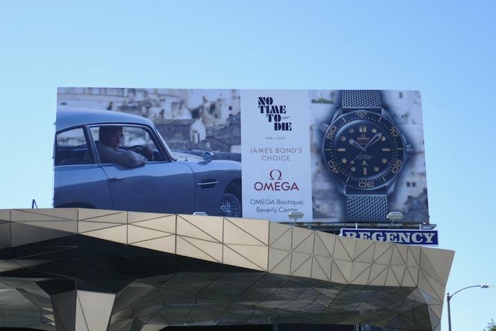 James Bond No Time To Die Omega watch billboard