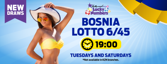 Bosnia Super Loto 6/45 - Lucky Numbers - Hollywoodbets - Results - Information - Betting