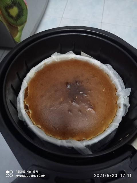 Resepi Burnt Cheesecake Simple dan Sedap