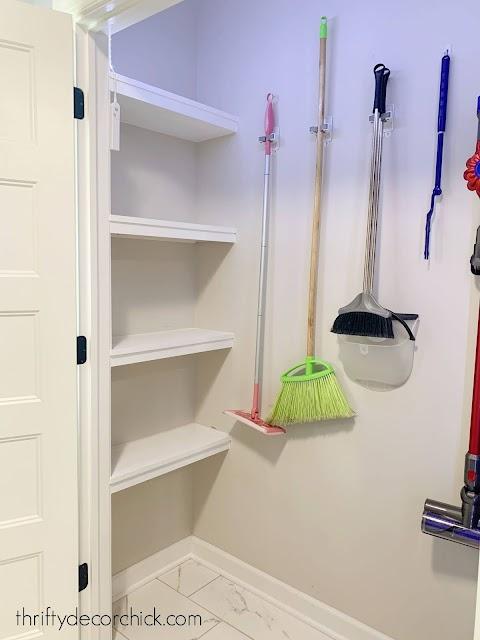 Adding shelves in unused closet space