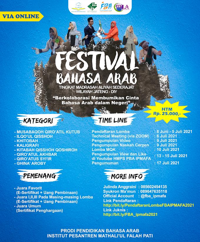 PBA IPMAFA Gelar Festival Bahasa Arab untuk Siswa Wilayah Jateng-DIY