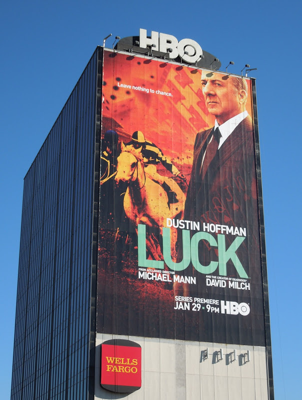 Giant Luck TV billboard