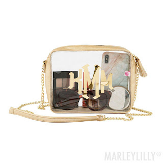 Clear Monogrammed Crossbody Bag