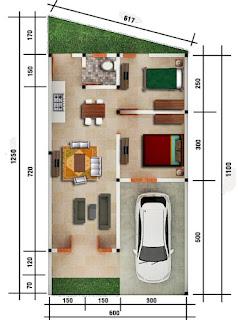 Floor Plan Unit C4 | Rumah Cluster Baru TERMURAH Dekat Pajak Melati Flamboyan Raya Simpang Pemda Medan | Promo 285 Juta