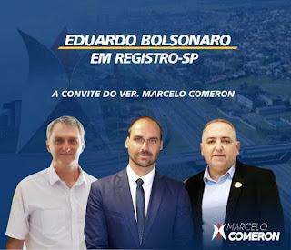 Deputado Federal Eduardo Bolsonaro estará em Registro-SP neste 22/11