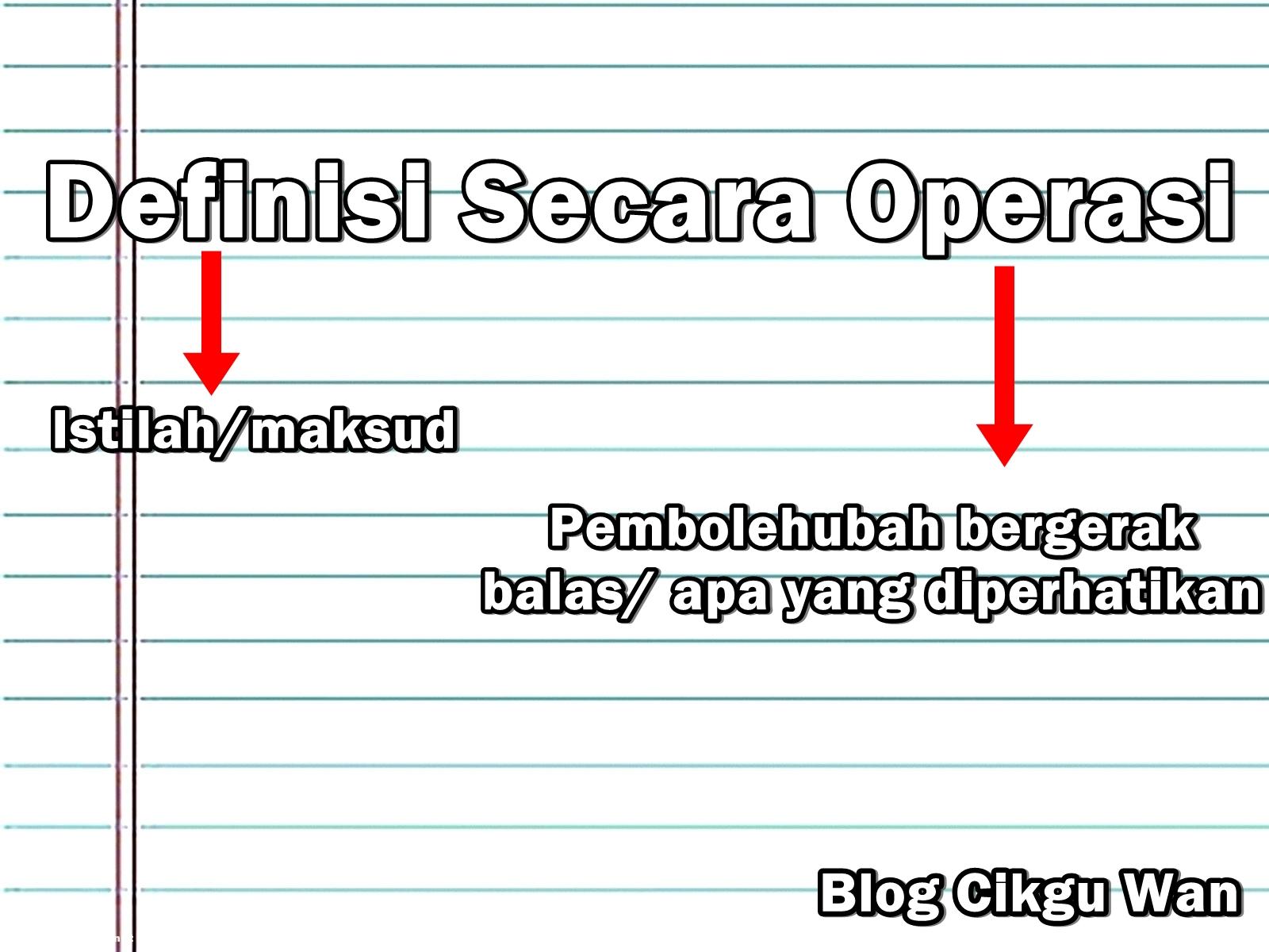 Cara Jawab Soalan Definisi Secara Operasi Sains