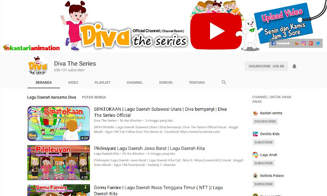 5 Channel Kartun Youtube Lokal Indonesia Aman Ditonton Bagi Anak dan Balita