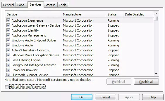 Task Manager services