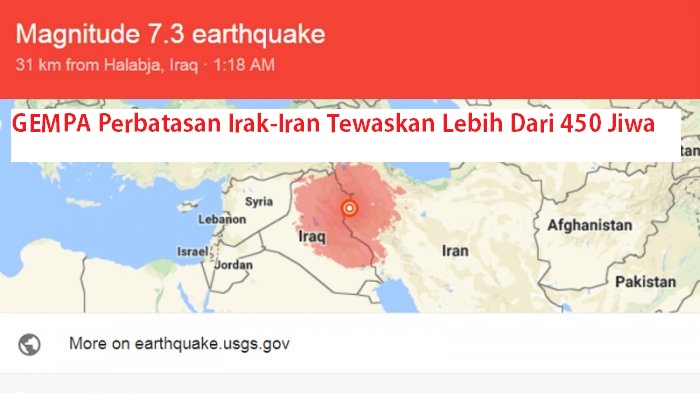 KBRI Teheran Minta WNI Waspada Terkait Gempa Perbatasan Irak Iran Tewaskan Lebih Dari 450 Jiwa