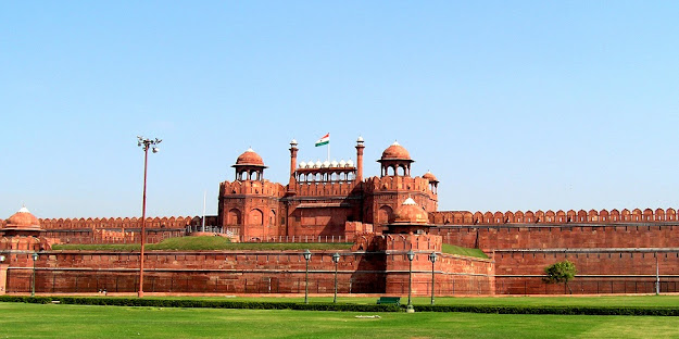 delhi red fort front view enters of kila
