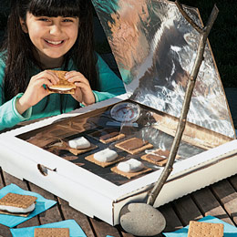 This DIY solar s'mores creation is a fun summer project for kids.