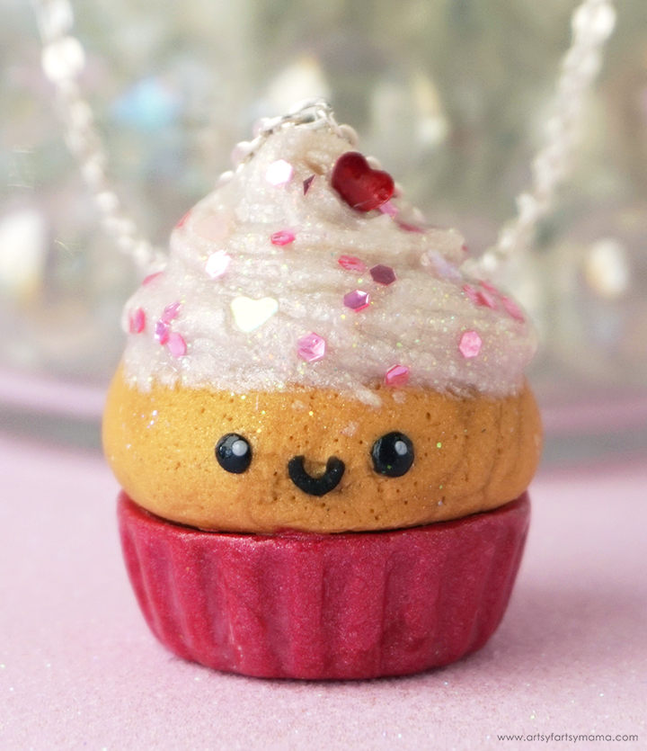 Polymer Clay Valentine Cupcake
