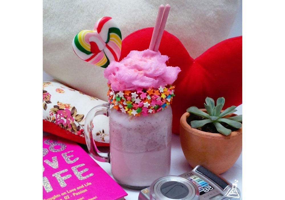 Cotton Candy Milkshake for Valentine's Day