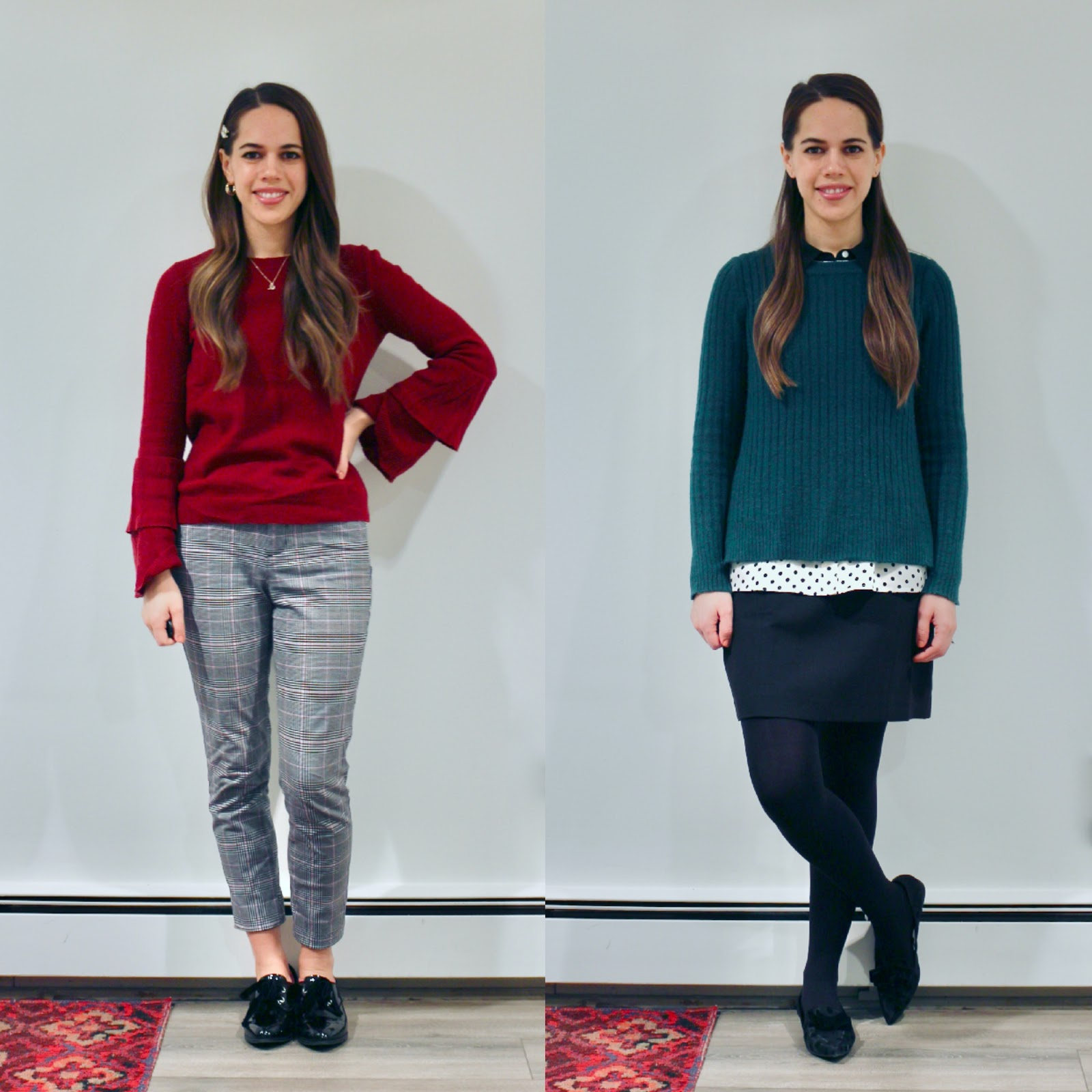 Jules in Flats - January Outfits Week Two (Business Casual Winter Workwear on a Budget)