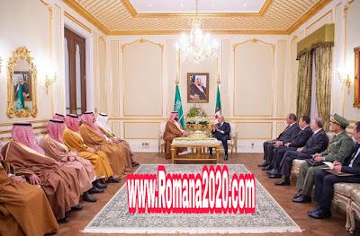 اخبار السعودية ولي العهد السعودي الأمير محمد بن سلمان  يبحث مع تبون سبل التعاون
