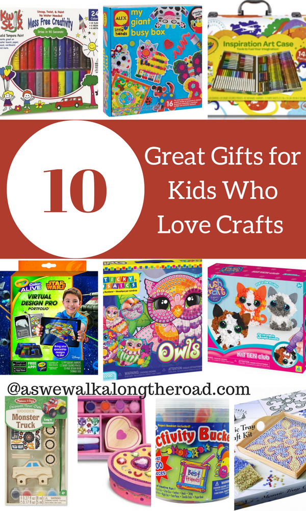 Gift list for kids who live crafts