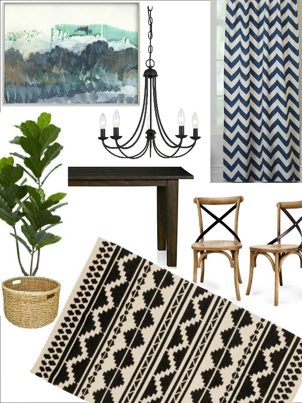 Industrial Modern Farmhouse Dining Room Mood board