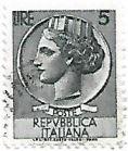 Selo Itália Turrita, 5 Lira