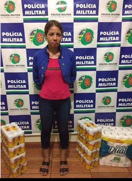Rio Verde: Mãe vai ao supermercado com filha de 7 anos e furta caixas de cerveja