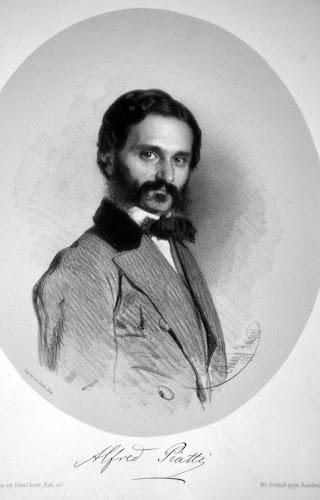 Alfredo Piatti, Lithograph by Eduard Kaiser, 1858