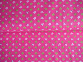 bavlnený úplet ružový s hviezdičkami