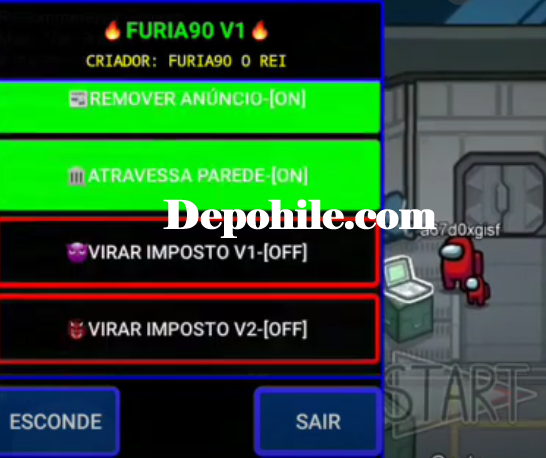 Among Us FuRia90 Menu Impostore Dönüşme, Wall Hile 2021