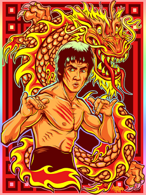 """DragonStyle"" Bruce Lee Screen Print by Jesse Hernandez x Style Over Substance"