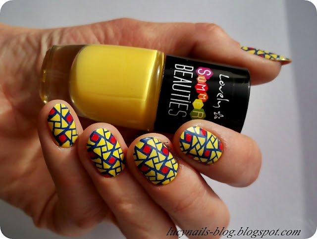 Lovely Summer Beauties nr 4 i Born Pretty Stamping Nail Polish nr 7