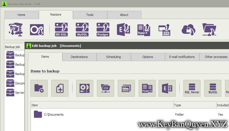 Iperius Backup 5.8.1.0 Full Key Download, Phần mềm sao lưu tất cả trong một cho PC và Máy chủ