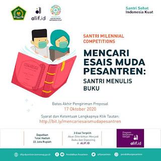 Santri Millenials Competitions: Mencari Esais Muda Pesantren; Santri Menulis Buku